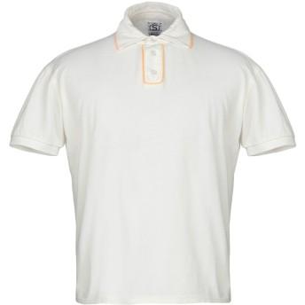 《期間限定セール開催中!》SOHO メンズ ポロシャツ アイボリー L コットン 100%