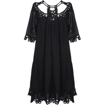 《セール開催中》INTROPIA レディース ミニワンピース&ドレス ブラック 38 コットン 100%