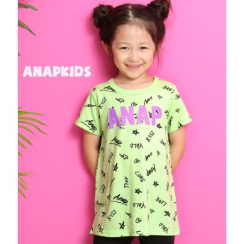 【セール開催中】ANAP KIDS(キッズ)総柄ロゴプリントチュニック