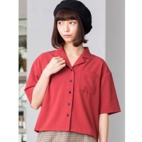 [マルイ]【セール】WEGO/オープンカラークロップド5分袖シャツ/ウィゴー(レディース)(WEGO)
