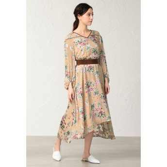 EPOCA フィオーレオパール ドレス ワンピース,ベージュ1
