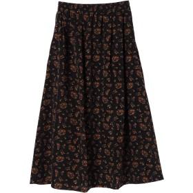 ロングスカート - Green Parks 花柄ギャザーロング丈スカート