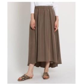 JET(ジェット)【洗える】ウエストゴム ヘムデザインマキシスカート