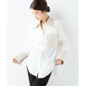 JOURNAL STANDARD relume 【NANUSHKA/ナヌーシュカ】レザーコンビシャツ ホワイト S