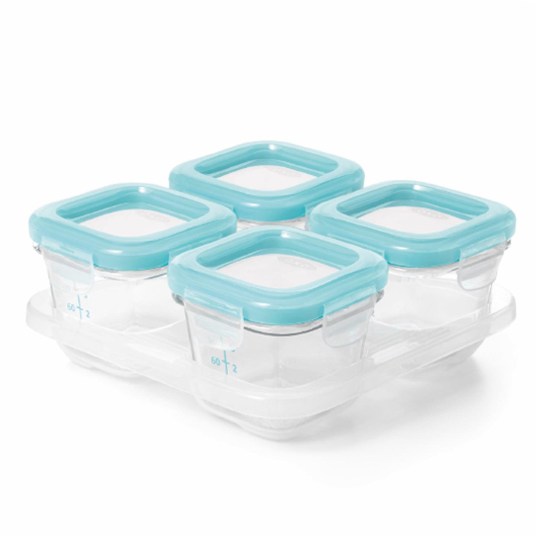 美國 OXO - 好滋味玻璃儲存盒(4oz)-水漾藍