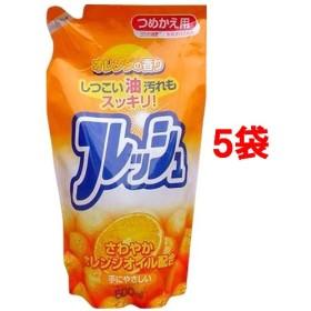 オレンジオイル配合 フレッシュ つめかえ用 (500ml5コセット)