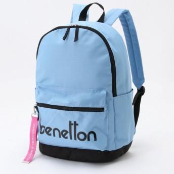 バッグ カバン 鞄 レディース リュック ロゴデザインリュックサック カラー 「サックス」