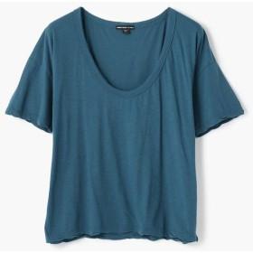 トゥモローランド スラブジャージー クルーネックTシャツ WFSJ3406 レディース 66ブルー系 1(M) 【TOMORROWLAND】