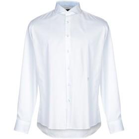 《期間限定セール開催中!》TRU TRUSSARDI メンズ シャツ ホワイト 39 コットン 100%