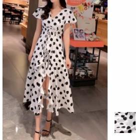 韓国 ファッション レディース ワンピース 夏 春 カジュアル naloF419 マキシワンピース リゾートワンピース ハワイ ギャザー ドレープ