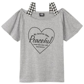 オフショル風Tシャツ(女の子 子供服。ジュニア服) Tシャツ・カットソー