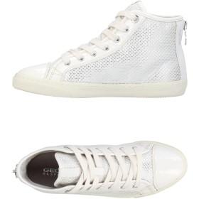 《期間限定 セール開催中》GEOX レディース スニーカー&テニスシューズ(ハイカット) ホワイト 35 革 / 紡績繊維