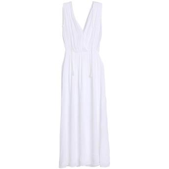《セール開催中》ROBERTO COLLINA レディース ロングワンピース&ドレス ホワイト M コットン 90% / レーヨン 8% / ポリエステル 2%