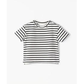 トゥモローランド コットンボーダー バックプリントTシャツ レディース 12ホワイト系 95 【TOMORROWLAND】
