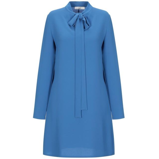《セール開催中》SUOLI レディース ミニワンピース&ドレス ブルー 40 ポリエステル 100%