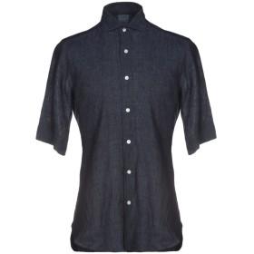 《期間限定 セール開催中》DANDYLIFE by BARBA メンズ デニムシャツ ブルー 39 麻 100%
