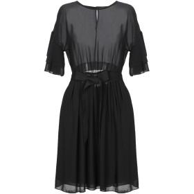 《セール開催中》DIXIE レディース ミニワンピース&ドレス ブラック 42 ポリエステル 100%