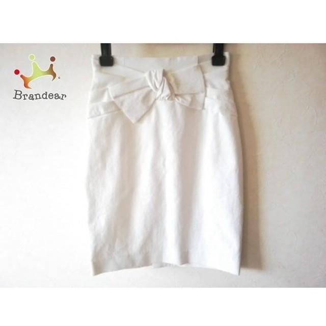 ジャスグリッティー JUSGLITTY スカート サイズ0 XS レディース 美品 白 リボン   スペシャル特価 20190918