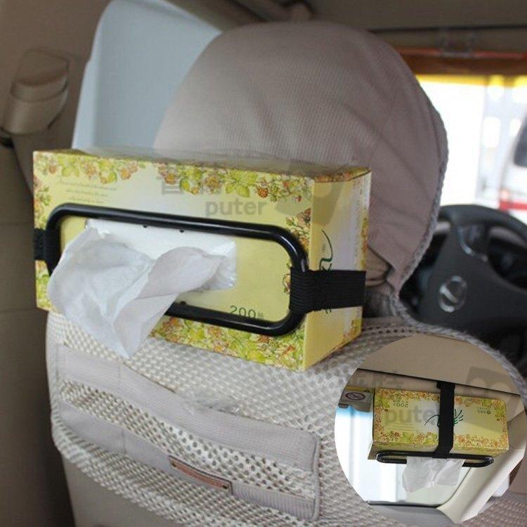 掛式紙巾架 車用紙巾框架 遮陽板紙盒架 紙合衛生紙固定架【CQ0480】上大HOUSE