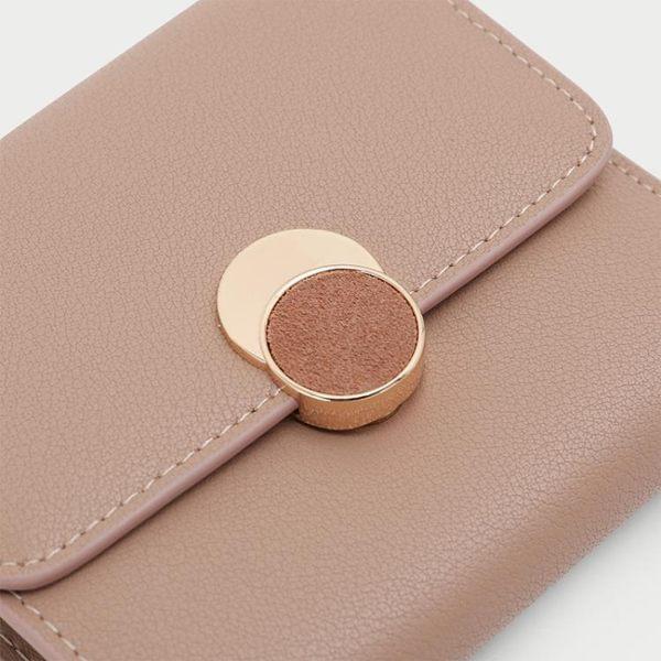 小CK女包小錢包短款時尚ins小款折疊真皮超薄簡約大氣小眾設計師