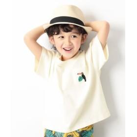 [マルイ]【セール】子供服 半袖 キッズ 韓国子供服 ロゴ刺繍BIGシルエット Tシャツ 男の子 女の子 トップス/デビロック(devirock)