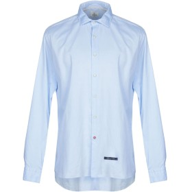 《セール開催中》AT.P.CO メンズ シャツ アジュールブルー 43 コットン 100%