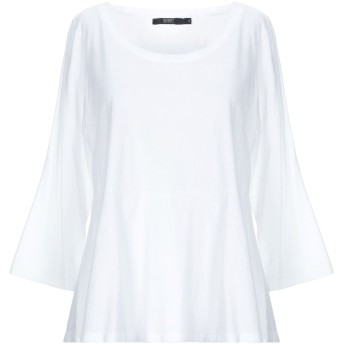 《9/20まで! 限定セール開催中》SEVENTY SERGIO TEGON レディース T シャツ ホワイト 44 コットン 100%