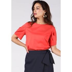 Viaggio Blu ≪大きいサイズ≫袖タックカットソー Tシャツ・カットソー,オレンジ