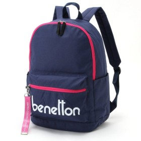 バッグ カバン 鞄 レディース リュック ロゴデザインリュックサック カラー 「ネイビー」