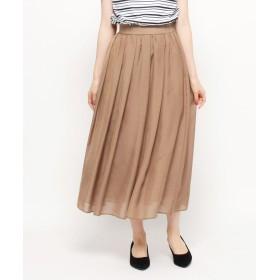 SOFUOL(ソフール) スパンローンタックフレアロングスカート