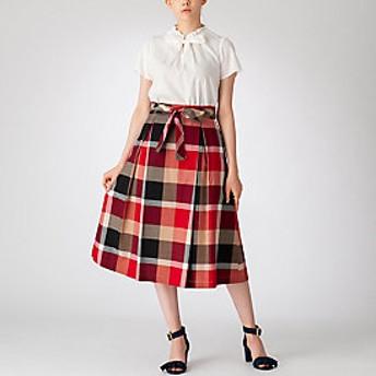 【ブルーレーベル・クレストブリッジ 】【限定カラーあり】クレストブリッジチェックコージーローンスカート