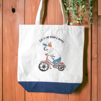 【名前入り】フレンチブルドッグ トートバッグ Mサイズ マザーズバッグ 通勤 通学 自転車 お出かけ サイクリング