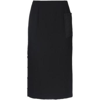 《9/20まで! 限定セール開催中》EMPORIO ARMANI レディース 7分丈スカート ブラック 36 ポリエステル 100% / ウール