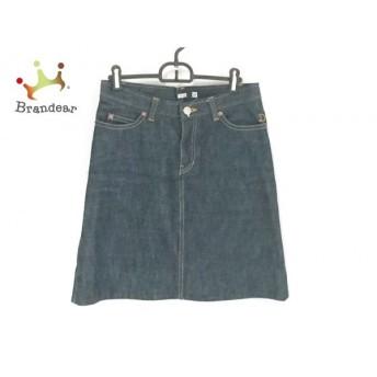 ドレステリア DRESSTERIOR スカート サイズ38 M レディース 美品 ネイビー デニム 新着 20190704