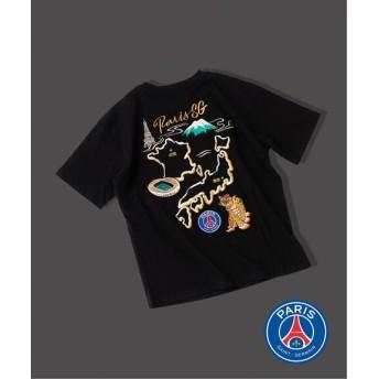 EDIFICE Paris Saint-Germain / パリサンジェルマン スカ Tシャツ ブラック 2L