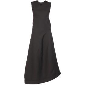 《送料無料》JIL SANDER レディース ロングワンピース&ドレス ブラック 36 シルク 63% / バージンウール 37%