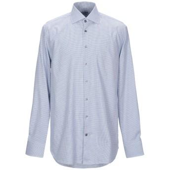 《9/20まで! 限定セール開催中》VAN LAACK メンズ シャツ アジュールブルー 38 コットン 100%