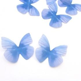 ちょうちょのパーツ 3cm シフォン・オーガンジー 素材 蝶々 パーツ ブルー 39