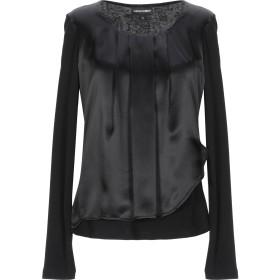 《期間限定セール開催中!》EMPORIO ARMANI レディース T シャツ ブラック 36 レーヨン 97% / ナイロン 3% / シルク