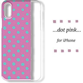 iPhoneクリアスマホケース_dot pink