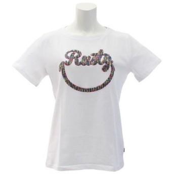 ラスティ カラフル刺繍Tシャツ 938507 WHT (Lady's)