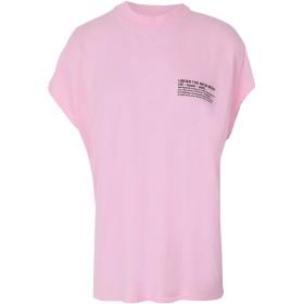 《期間限定セール開催中!》ESSENTIEL ANTWERP レディース T シャツ ピンク 0 コットン 100% THIS GARMENT DYED T-SHIRT