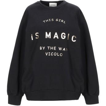 《9/20まで! 限定セール開催中》VICOLO レディース スウェットシャツ ブラック one size コットン 100%