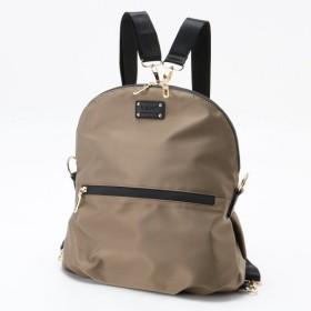 バッグ カバン 鞄 レディース リュック 使い方が選べる!2WAYナイロンお役立ちバッグ カラー 「モカ」