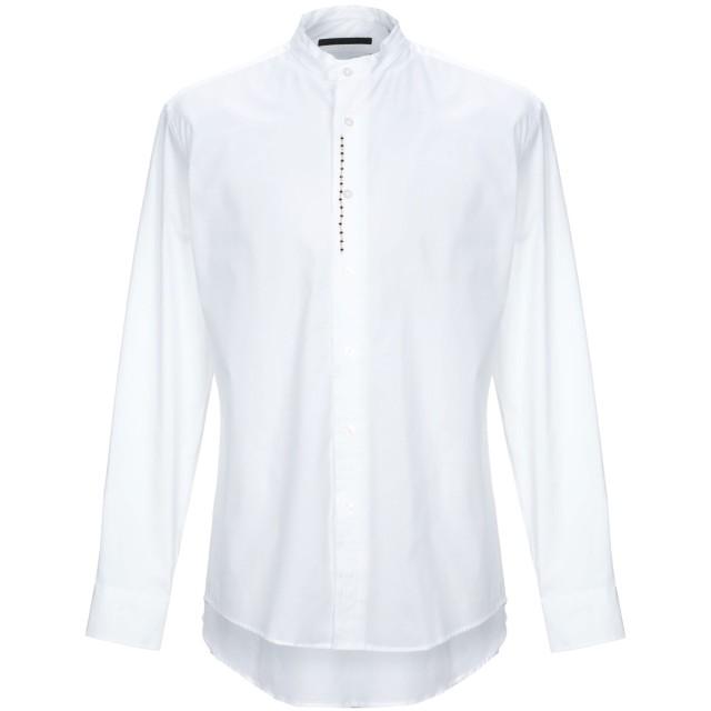 《期間限定セール開催中!》DANIELE ALESSANDRINI メンズ シャツ ホワイト 40 コットン 97% / ポリウレタン 3%