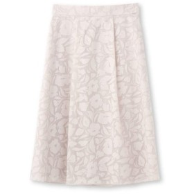 Reflect(リフレクト)◆【洗える】フラワーオパール加工スカート