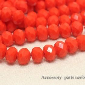 【6mm1連】ボタンカットガラスビーズ《BKK-19-17》インディアンオレンジ