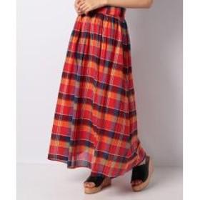 Lugnoncure チェックギャザースカート