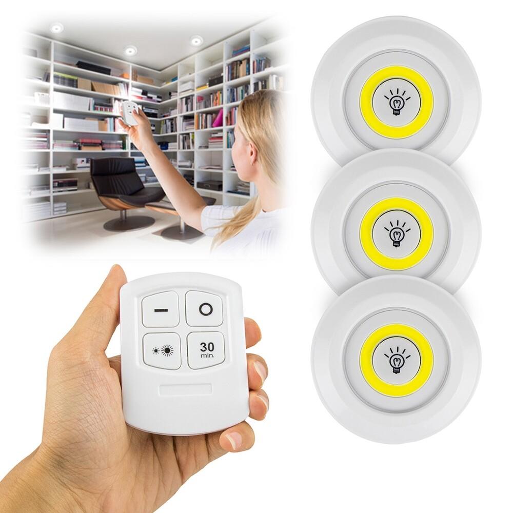 超值組 電池式一對三遙控 led cob智慧創意拍拍燈