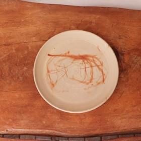 備前焼 皿・ひだすき sr3-051(18cm)